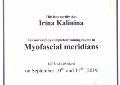Myofacial-meridians